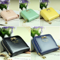 Wholesale Low Price Credit Card Wallet - Wholesale-Lowest Price!!!New Colorful Lady Lovely Purse Clutch Women Wallets Small Purses Bag PU Leather Card Hold b7 SV002747