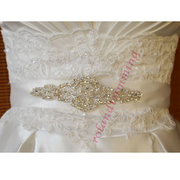 Wholesale Top Selling Fashion Belts - Top Selling Hot 2017 Beaded Bridal Accessories New Arrival Wedding Sashes Belts W20140098 Dazzling Crystal Handmade Free Shipping Stunning