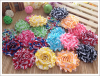 Wholesale Head Flowers Clips - 80pcs Hot Sale baby girls hair accessories mix color head flower hair flower without clips chiffon flowers lace flowers