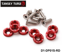 Wholesale Honda Washers - Tansky -- D1 Spec 8Pcs M6x20 Engine Bumpers Fender Washers Kit Bolt Screw Fit For Honda Civic EK EP AP DC2 DC5 D1-DP01S