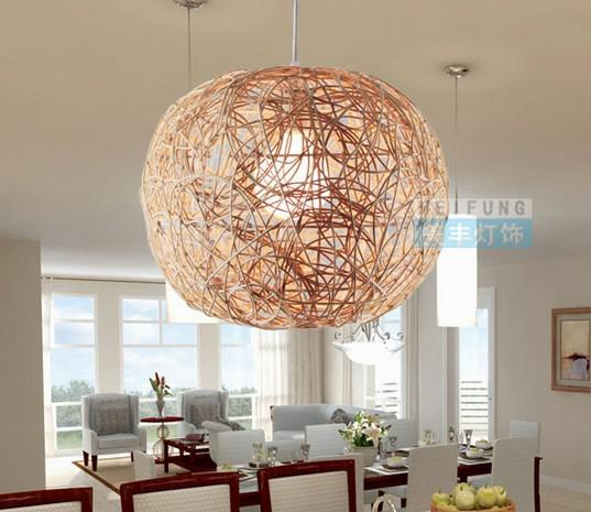 Ems 30cm rattan lamp pendant light ma rattan bird nest lamp ball see larger image mozeypictures Image collections