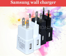 Wholesale Galaxy Note2 Charger - EU US Plug 2A Wall Charger Adapter for Samsung Galaxy S4 i9500 S3 i9300 Note2 N7100 Black White