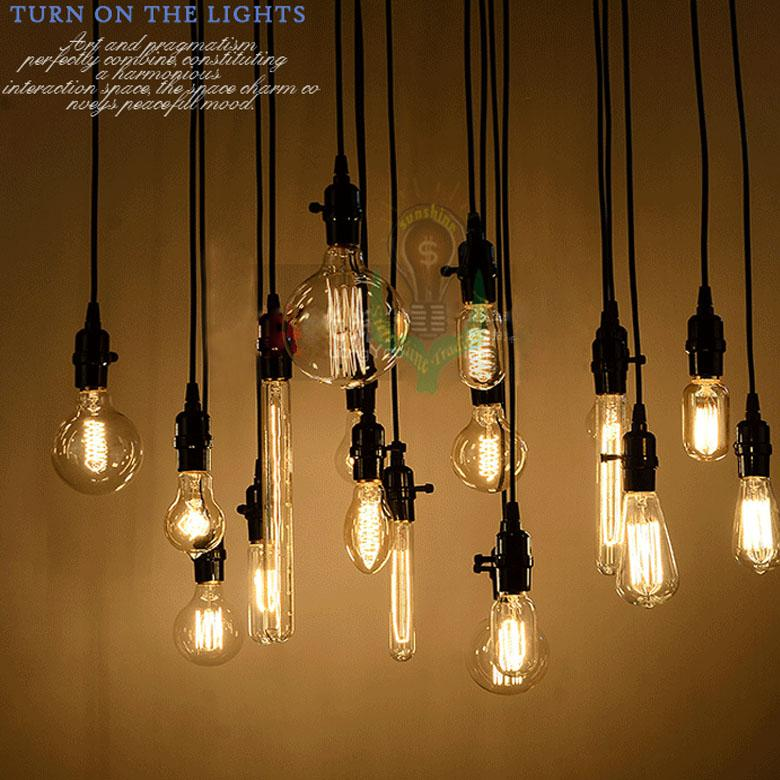 Wholesale edison antique bulb pendant lamps diy nostalgic vintage wholesale edison antique bulb pendant lamps diy nostalgic vintage style pendant lights high quality long life track lighting pendants cheap pendant lights aloadofball