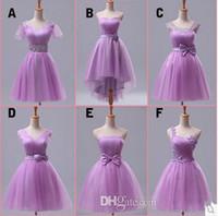 Wholesale Paragraph Dress Black - 2015 new wedding dress short paragraph toast purple dress bridesmaid dresses Mission