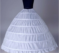 Wholesale Bridal Princess Petticoat - In Stock White 6 HOOP PETTICOAT crinoline SLIP Underskirt BRIDAL WEDDING dress real sample bridal princess petticoat bridal underskirt