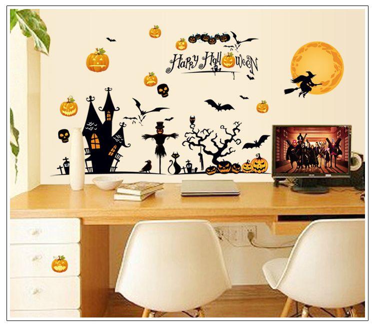 large halloween decorations wall sticker art decorative wall