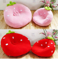 Wholesale Home Textile Free Shipping - Comfortable Cartoon Seat Cushion Sofa Cute Strawberry Shape Cushion For Adults and Children New arrival Home Textile Free Shipping