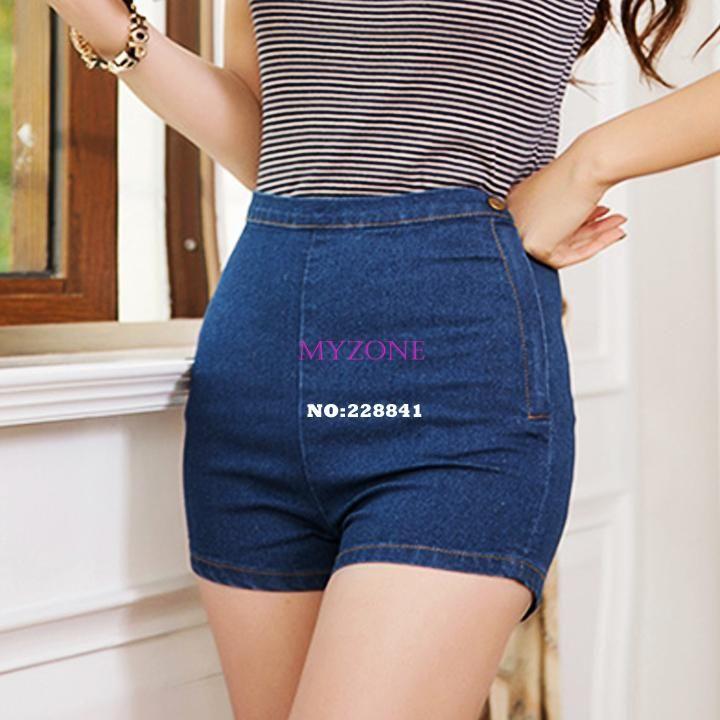 2017 New Women Shorts Summer Women Slim High Waist Denim Jeans ...