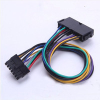 """Wholesale Motherboards For Pc - 30cm 11.8"""" 24Pin 24P to 14Pin ATX Power Supply Cable Cord For Lenovo Q77 B75 A75 Q75 PC Desktop Motherboard Mainboard DIY"""