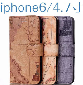 Retro World Map Wallet Flip Leather Case Phone Bag Cover With Card Slots Stand Holder For iPhone 5S 6 Plus Samsung Galaxy S6 Note4