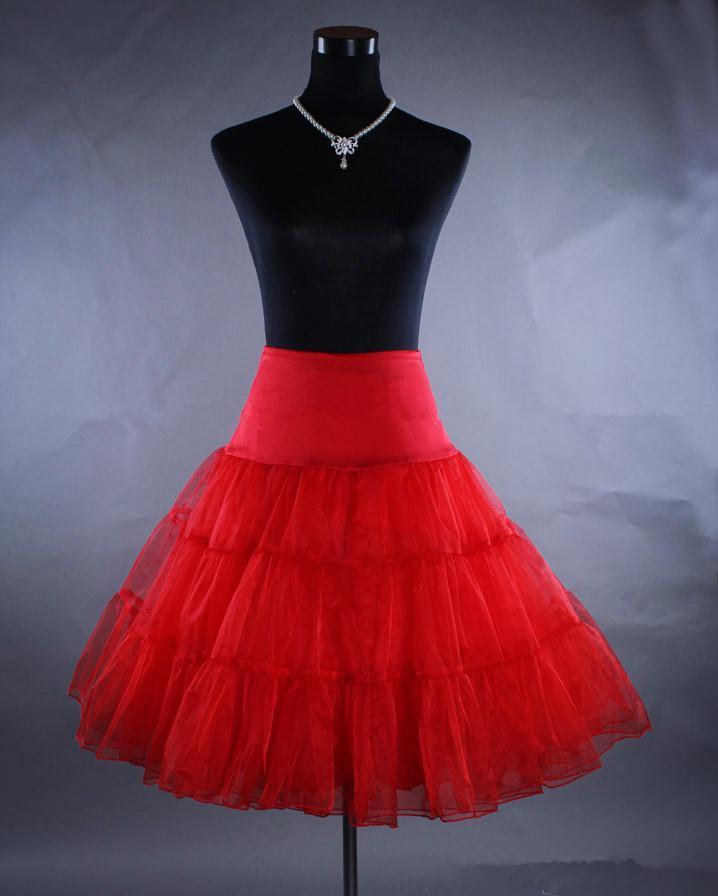 Darmowa wysyłka 2019! Tanie Multi Color Petticoat Red Petticoats 5 Kolory Crinoline Underskirt Hoopless Slip dla krótkich sukienek oszałamiające