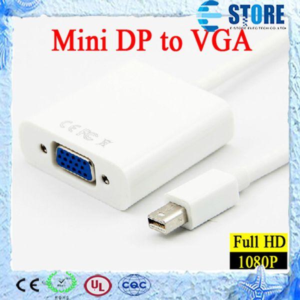 Thunderbolt Mini DisplayPort Display Mini Puerto DP a VGA Adaptador de cable convertidor para Apple Macbook Mac Pro Air, DHL GRATIS, wu