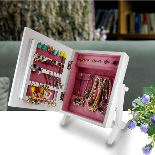 2018 Ship From Usa Small Tabletop Mirrored Jewelry Armoire Wooden Storage  Cabinet For Women Jewelry Box From Fashionyourlife, $31.16 | Dhgate.Com