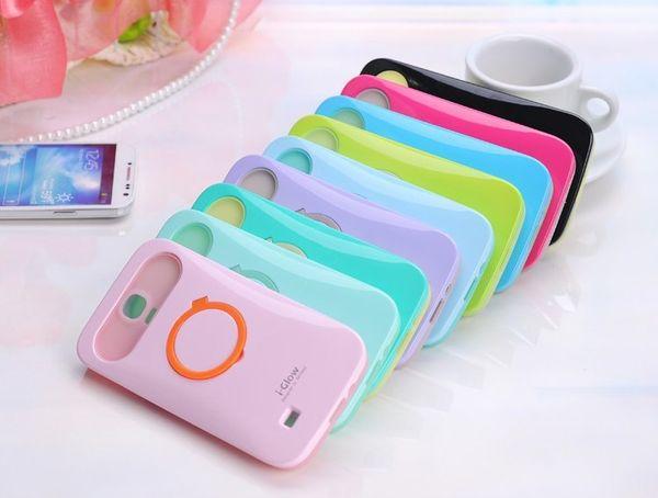 Iglow i glow case suporte luminoso escudo do telefone silicone suporte de proteção giratória brilho phone case para iphone 4 4s 5 5s 6 plus