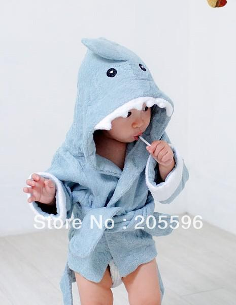 huge inventory exceptional range of styles how to get Let The Fin Begin Terry Shark Spa Robe Baby Bathrobe/Baby Hooded Bath  Towel/Kids Bath Terry Children Infant Bathing/Baby Robe Peach Bath Towels  ...