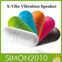 Wholesale Wholesale X Vibe Speaker - 360 Degree Portable Vibration X-Vibe Boom Box Speaker Resonance Surface Universal Mp3 Player for iphone5 5s SamsungS4  LG Huawei Lenove