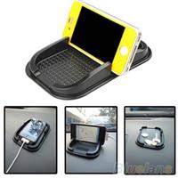 ingrosso supporto mobile antiscivolo-Cruscotto auto nero Cruscotto appiccicoso antiscivolo Gadget per cellulare GPS Supporto per interni Accessori