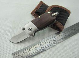 Wholesale Hand Folder - Free UPS Small Keychain Folder EDC Pocket Wood Handle Hand Tool Folding Knives Camping Utility Outdoor Gear Knife F434L