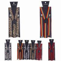 Wholesale Fancy Dress Braces - 2015 Unisex Y-Shape Clip-on Suspenders Women Man Adjustable Elastic Braces Fancy Dress Mix Colors Choose DCE