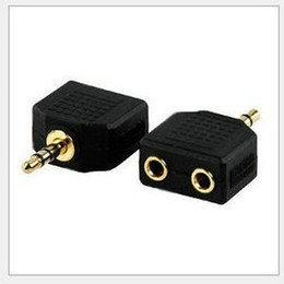 Wholesale Y Adapter Female Male - Free shipping 3.5mm Male Stereo Jack to 2 x Female Splitter Headphone Audio Y Adapter Plug for apple 4s 5 6 Samsung Galaxy S2 S3 i9300