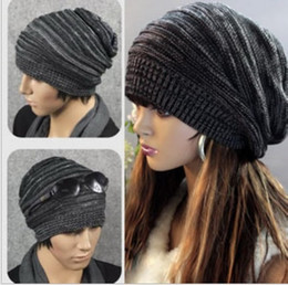 Wholesale Leather Berets - Min.order is $5(mix order) 2014 Autumn NEW Unisex Womens Mens Knit Baggy Beanie Beret Hat Winter Warm Oversized Ski Cap 80121