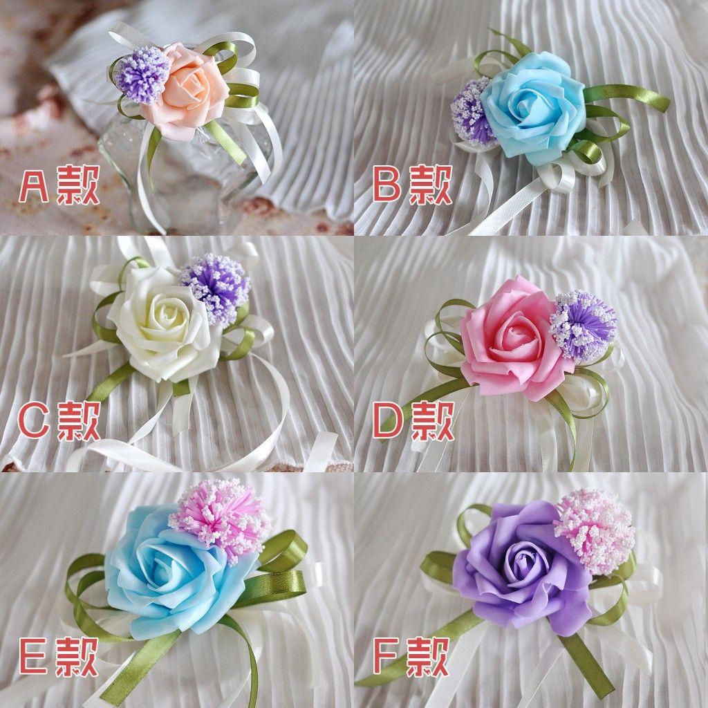 2015 Beautiful Bridesmaid Waist Flowers Cheap Popular Romantic