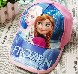 Wholesale Kid Ear Muffs Pink - Frozen Ear Muff Hats Baby Baseball Cap Baby Hats Kids Pretty Elsa Sun Caps boy snapback hats