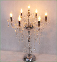 Wholesale Crystal Table Lamp Vintage - lamp Antique Crystal Candelabra Crystal Candelabra Vintage Candelabra Crystal table lamp modern lights Wedding centerpiece LED table lamps
