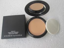 Polvo 15g online-NW25 1 unids / lote buena calidad de maquillaje nuevo polvo de arreglo de estudio más maquillaje base fundación 15g corrector de polvo facial con maquillaje de esponja