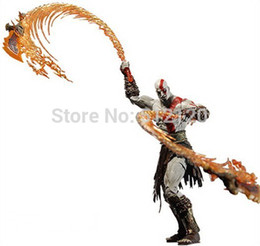 "Wholesale God War Model - Hot Sale Brand New God of War Kratos with Flaming Blades of Athena 7"" PVC Action Figure Collection Model free shipping"