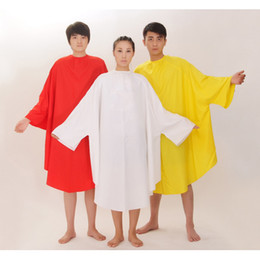 Wholesale Hair Capes Sleeves - red white yellow black hair cutting cape with sleeves salon clothes waterproof anti-static