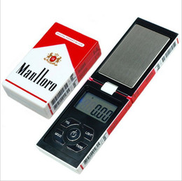 Wholesale Digital Scales Free Shipping - 10pcs lot 100g x 0.01g Digital Pocket Scale Balance Weight Jewelry Scales 0.01 gram Cigarette Case scales Free Shipping