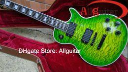 Chinese Custom shop guitars online shopping - Custom Shop Green Guitar Ebony fretboard Black Active Pickups Black Hardware Great Chinese Guitar