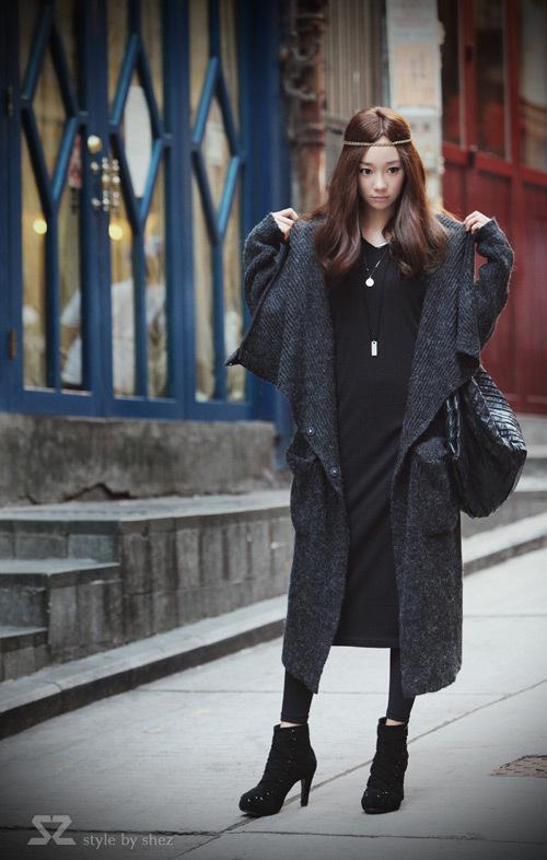 패션 명품 여성 겨울 스웨터 울 혼방 토끼 모피 니트 스웨터 드레스 착실히 보내다 회색 XMAS 선물