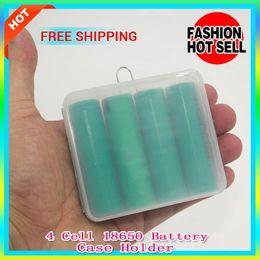 Wholesale E Cigarette Hard Box - 300pcs sale!!!4 Cell 18650 Battery Case 18650 Battery Storage Box Hard Plastic Case with Hook Holder for E Cigarette mechanical mod battery