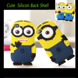 Wholesale Iphone 5s Cases Minion - Cute Cartoon Despicable Me & Minions Soft Silicon Case Cover for iPhone 4 4S 5 5S iPhone 6 4.7 inch High Quality with Shockproof Waterproof