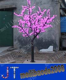Ha portato l'albero verde del fiore online-1,056 pz LED Lampadine Cherry Blossom Tree Light Red / Blue / Green / Yellow / White / Pink / Puple Opzionalmente 2m / 6.5ft Altezza Albero di Natale MYY9701