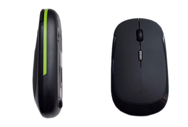 Atacado-Super slim estilo simples 2.4 Ghz mouse de computador sem fio com mini receptor USB e definição DPI ajustável