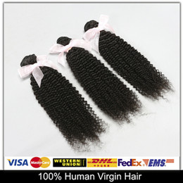 Wholesale Virgin Curly Hair Grade 6a - On Sale!Brazilian Malaysian Peruvian Indian Virgin Hair 3pcs Kinky Curly Unprocessed Human Hair Wefts Weave Top 6A Grade Natural Color