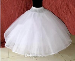 Wholesale Polyester Wedding Gown For Sale - In Stock 8 Layer Petticoat No Hoop Underskirt Lace Edge Ball Gown For Bridal Dresses Wedding Accessory Undergarment Hot Sale