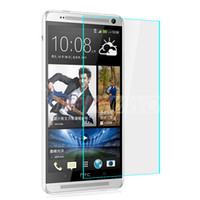 Wholesale Shatter Proof Protector - 2014 New Hotsale Screen Protector 2.5D 0.2MM 9H Tempered Glass Explosion proof Shatter-proof Film For HTC ONEMAX With Package
