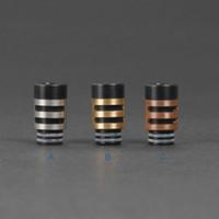 ingrosso punte di gocciolamento in ottone-510 silenziatore a foro largo in metallo punte di gocciolamento in rame inox delrin + rame / ottone drip tip 510 bocchino per atomizzatore vetro Rda rba Protank 3 ego