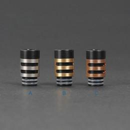 Urso de latão on-line-510 furo largo metal cobre inoxidável dicas gotejamento de cobre delrin + cobre / latão gotejamento ponta 510 bocal para rda rba Protank 3 ego atomizador de vidro