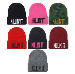 Wholesale Choose Real - 2014 New Fashion Flat Embroidery The Killin It Beanies For Men And Women Hip Hop Hats Knitted Caps 7 Models For Choose