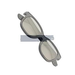 Venta al por mayor-Polarized 3D Glasses Black Movie DVD LCD Video Game Theater Circular ASAF