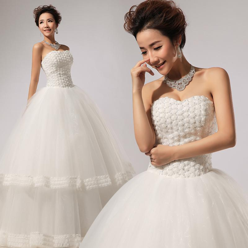 Spanish Lace Wedding Gown: Simple And Elegant Wedding Dress 2014 High Quality Spanish