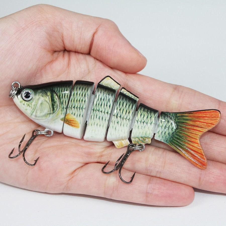 Рыбалка воблеры реалистичные рыболовные приманки 6 сегмент Swimbait Crankbait жесткий приманки медленно 10 см 18 г иска искусственные приманки рыболовные снасти