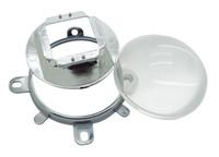 квадратные светодиодные светодиоды оптовых-57мм Led Lens + Reflection Cup + кронштейн Напольного Держатель овальная форма для 30W - 100W Овального High Power Led Light