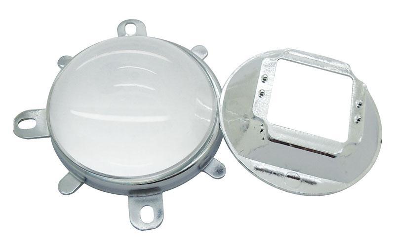 57mm LED LOX + Cup Reflection Cup + Uchwyt Bracket Holder Ovalny kształt dla 30W - 100 W Oval High Power LED Light