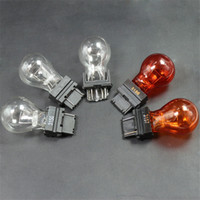 Wholesale 3157 led bulbs - Sylvania Long Lime Bulb P27W W2.5x16q Foam Insert LED Car Bulb Light LED Tail Lamp Bulb 3156 3157 American Land Rover Car Turning Light Bulb